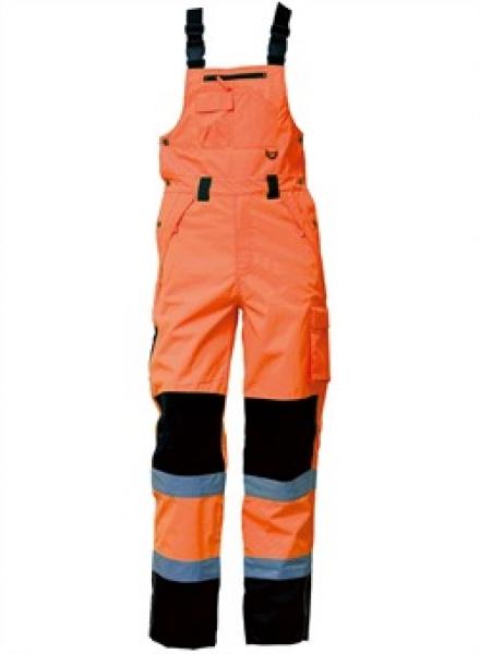 ELKA Warn-Schutz-Arbeits-Berufs-Latz-Hose Visible Xtreme, warnorange/schwarz