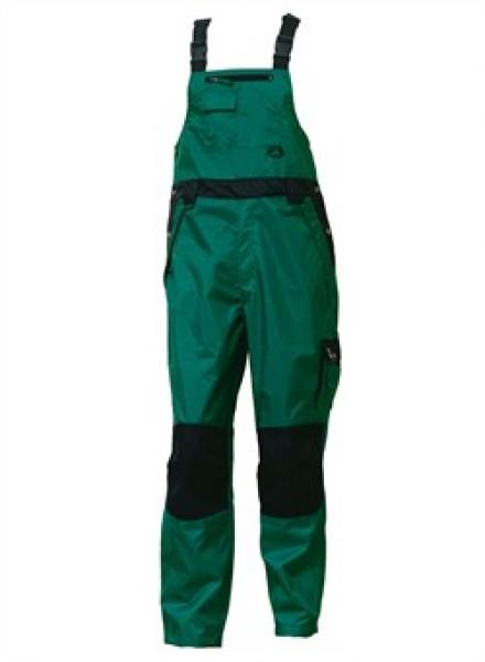 ELKA-Regen-Nässe-Wetter-Schutz, Arbeits-Berufs-Latzhose, Working Xtreme, grün/schwarz