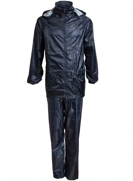 ELKA-Regen-Nässe-Wetter-Schutz-Jacke und Hose, Regenset im Beutel, OUTDOOR, marine