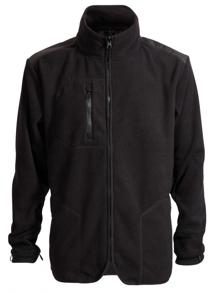 ELKA-Fleece-Jacke, ZIP-IN, WORKING XTREME, schwarz
