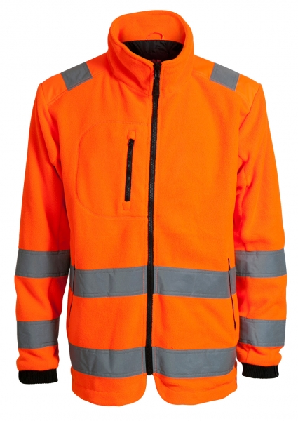 ELKA-Fleece-Jacke, ZIP-IN, WORKING XTREME, warnorange