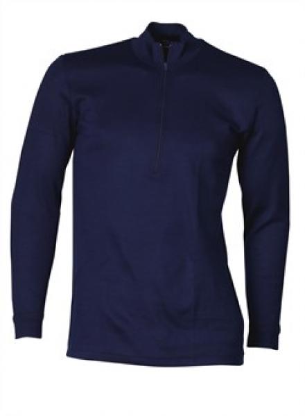 ELKA Thermo-Unterhemd, m Reißverschluß, Langarm, marine