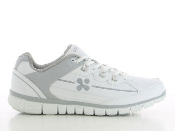 OXYPAS-Herren-Arbeits-Berufs-Schuhe, Sneakers, Henny, weiss/grau