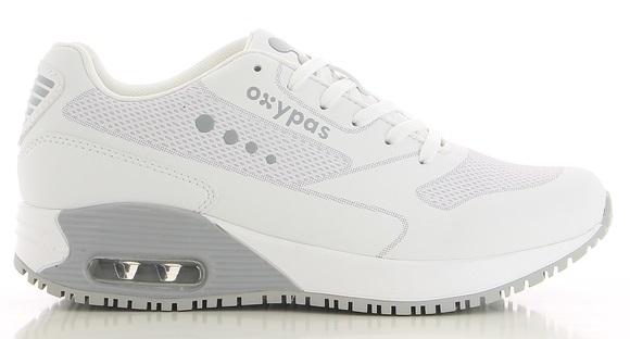 OXYPAS-Damen-Arbeits-Berufs-Schuhe, Sneaker, ESD, ELA, hellgrau