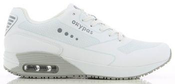OXYPAS-Herren--Arbeits-Berufs-Schuhe, Sneaker, ESD, Justin, weiss/grau
