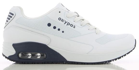 OXYPAS-Herren-Arbeits-Berufs-Schuhe, Sneaker, Justin, weiss/dunkelblau