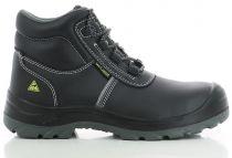 SAFETY JOGGER-S3-Arbeits-Berufs-Sicherheits-Schuhe, Schnürschuhe, hoch, Eos, schwarz