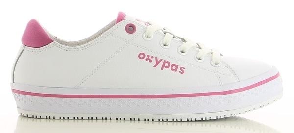 OXYPAS-Damen-Arbeits-Berufs-Schuhe, ESD, Paola, weiß/fuchsia