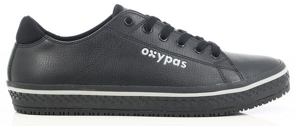 OXYPAS-Herren-Arbeits-Berufs-Schuhe, ESD, Clark, weiß/schwarz