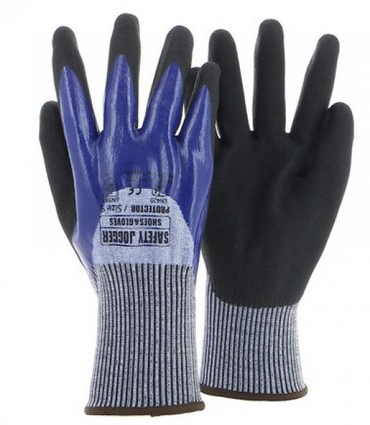 SAFETY JOGGER--Arbeits-Handschuhe, PROTECTOR 4544C, blau/schwarz