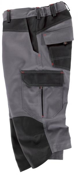 BEB-3/4 Hose, Arbeits-Berufs-Shorts, Premium, 300 g/m², grau/schwarz