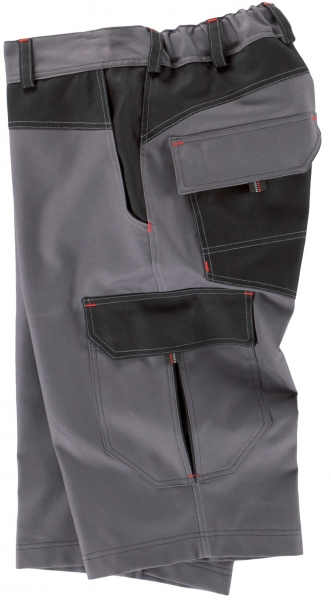 BEB-Arbeits-Berufs-Shorts, Premium, 300 g/m², grau/schwarz