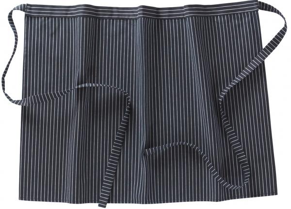 BEB-Halbschürze, Arbeits-Berufs-Schürze, 50 x 72 cm, 195 g/m², schwarz/weiß, Nadelstreifen