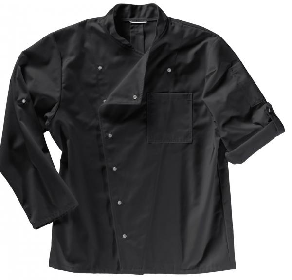 BEB-Kochjacke für Damen und Herren, MG215, schwarz