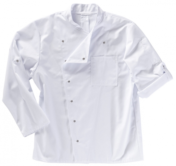 BEB-Kochjacke für Damen und Herren, MG210, weiss
