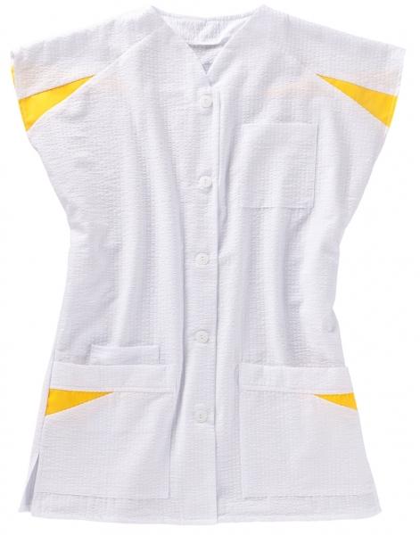 BEB-Damen-Arbeits-Berufs-Kasack, MG 150, weiß/gelb