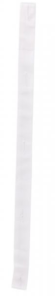 BEB-Knopflochleiste, für Kochjacken, 210 g/m², weiß