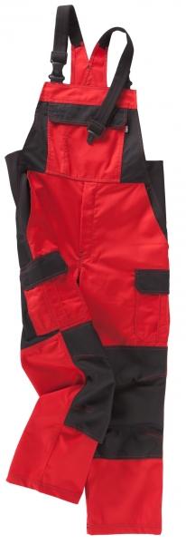 BEB-Arbeits-Berufs-Latz-Hose, Premium, MG 245, rot/schwarz