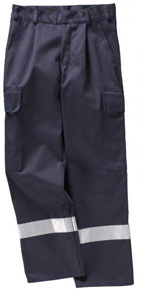 BEB-Arbeits-Berufs-Bund-Hose, mit Reflexstreifen, Basic, MG 300, marine