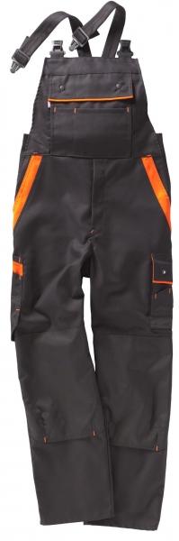 BEB-Arbeits-Berufs-Latz-Hose, Premium, MG 300, schwarz/orange