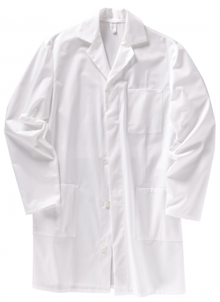 BEB-Herren-Arbeits-Berufs-Mantel, Herrenkittel, BW 210, weiß