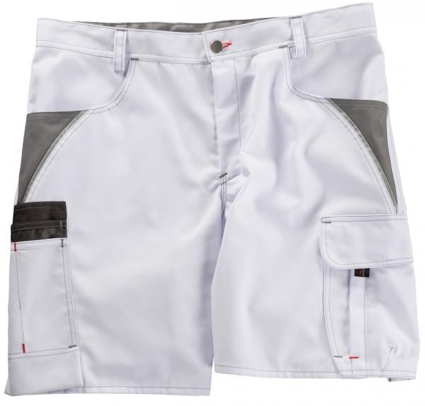 BEB-Arbeits-Berufs-Shorts, Inflame, 245 g/m², weiß/grau