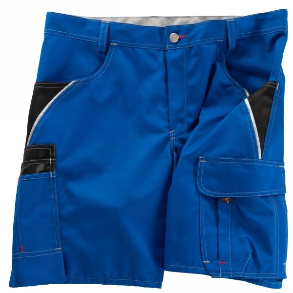 BEB-Arbeits-Berufs-Shorts, Inflame, 245 g/m², kornblau/schwarz