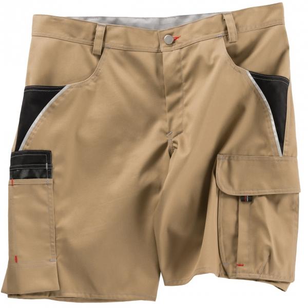 BEB-Arbeits-Berufs-Shorts, Inflame, 245 g/m², sand/schwarz