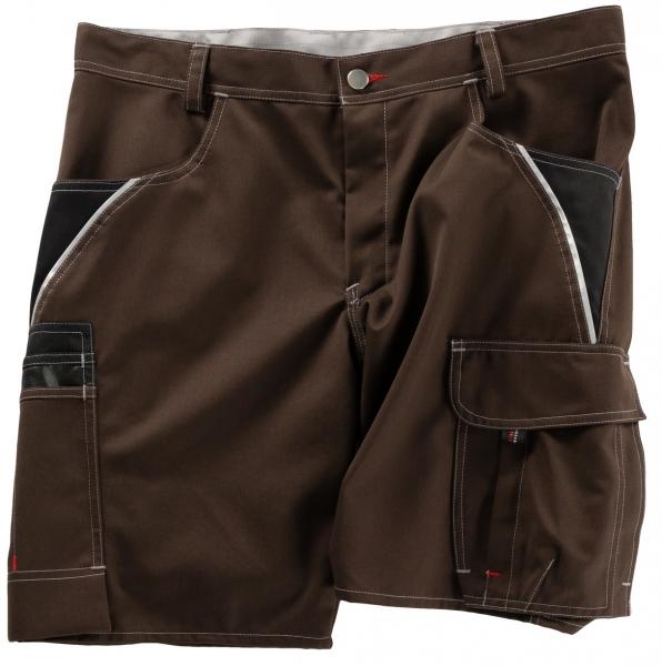 BEB-Arbeits-Berufs-Shorts, Inflame, 245 g/m², chocolate brown/schwarz