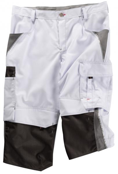 BEB-Piratenhose, Arbeits-Berufs-Shorts, Inflame, 245 g/m², weiß/grau