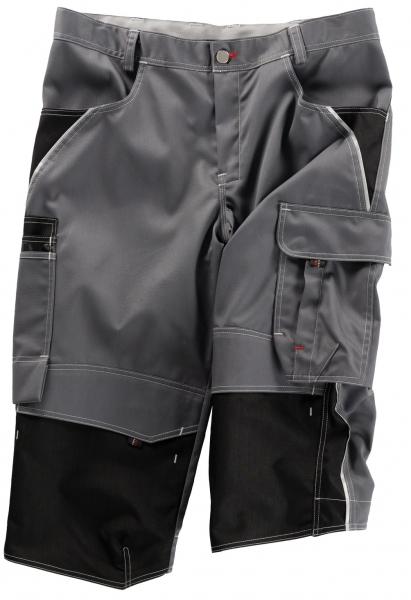 BEB-Piratenhose, Arbeits-Berufs-Shorts, Inflame, 245 g/m², grau/schwarz
