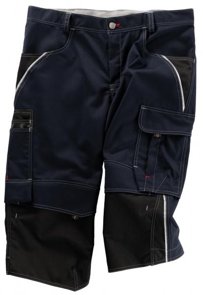 BEB-Piratenhose, Arbeits-Berufs-Shorts, Inflame, 245 g/m², blue shadow/schwarz