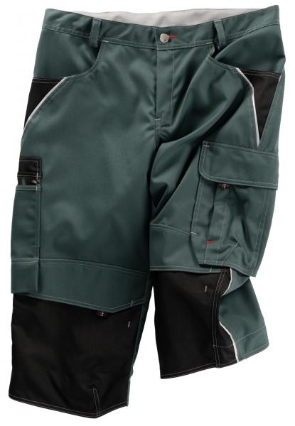 BEB-Piratenhose, Arbeits-Berufs-Shorts, Inflame, 245 g/m², spruce green/schwarz