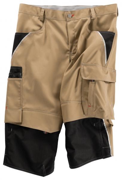 BEB-Piratenhose, Arbeits-Berufs-Shorts, Inflame, 245 g/m², sand/schwarz