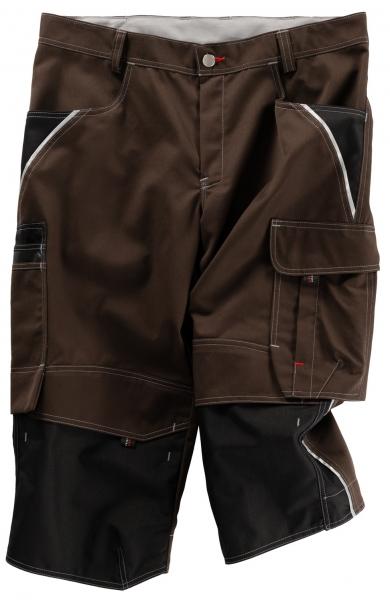 BEB-Piratenhose, Arbeits-Berufs-Shorts, Inflame, 245 g/m², chocolate brown/schwarz