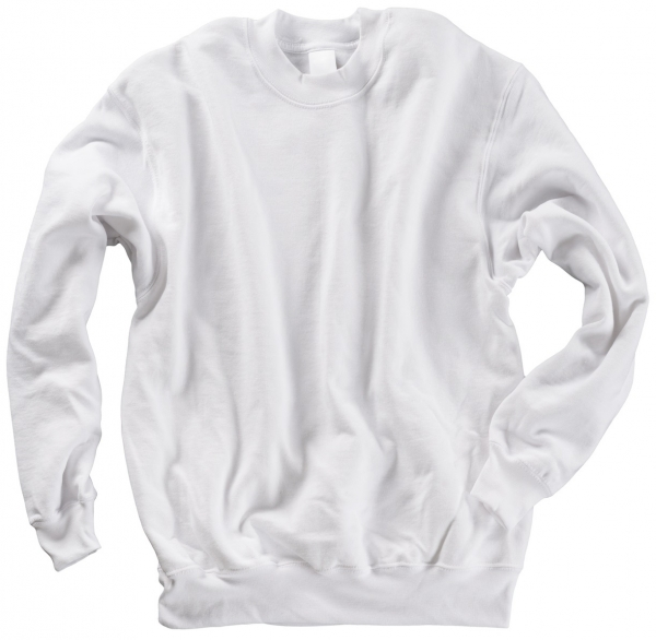 BEB-Sweatshirt, Arbeits-Berufs-Sweat-Shirt, Classic, MG 260/280, weiß