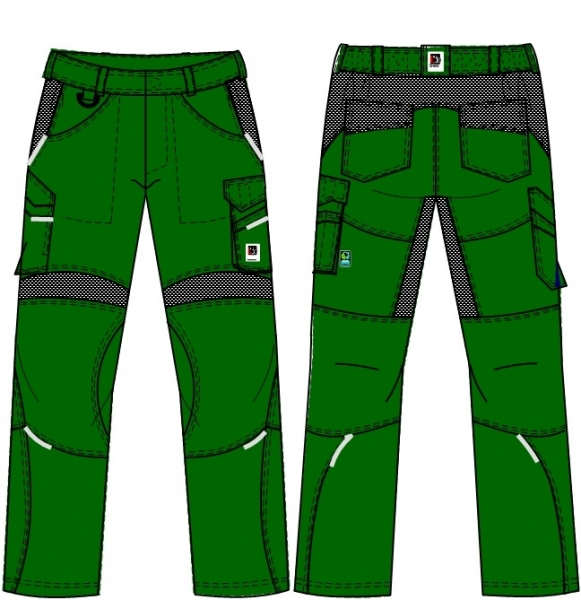 BEB-Herren-Bundhose, Flex, Fairtrade, grün/schwarz
