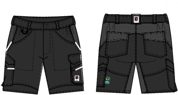 BEB-Herren-Shorts, Flex, Fairtrade, schwarz
