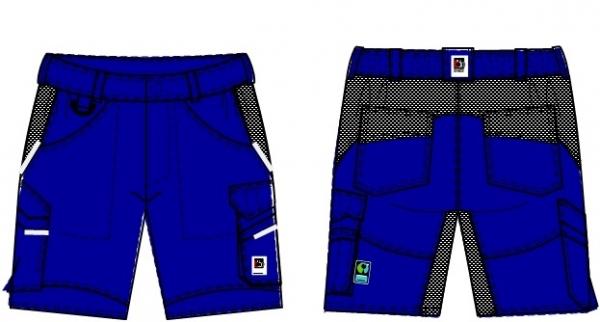 BEB-Herren-Shorts, Flex, Fairtrade, kornblau/schwarz