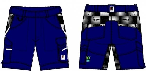 BEB-Herren-Shorts, Flex, Fairtrade, blue shadow/schwarz