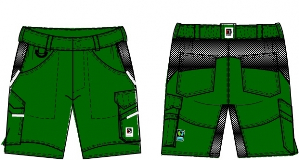 BEB-Herren-Shorts, Flex, Fairtrade, grün/schwarz