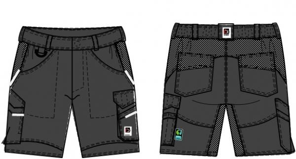 BEB-Herren-Shorts, Flex, Fairtrade, charcoal/schwarz