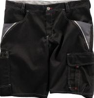 BEB-Arbeits-Berufs-Shorts, Inflame, 245 g/m², schwarz/grau