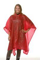 OCEAN-Regen-Nässe-Wetter-Schutz-Poncho, 50 Stück, rot