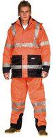 OCEAN-Warn-Schutz-Jacke, 4 in 1, herausnehmbare Fleece, orange/marine
