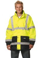 OCEAN-Warn-Schutz-Jacke, 4 in 1, herausnehmbare Fleece, gelb/marine