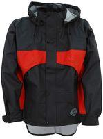 OCEAN-Abeko-PU-Regen-Nässe-Wetter-Schutz-Mantel, Stretch, Premium, schwarz/orange