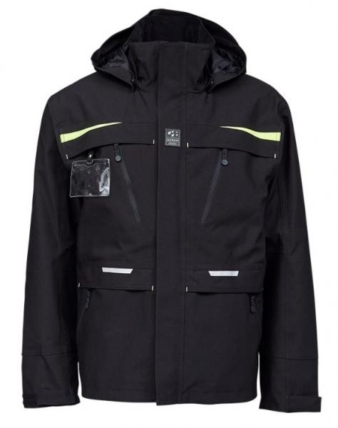 OCEAN-Abeko-Herren-Wetterschutz-Jacke, Rocky Stretch, schwarz
