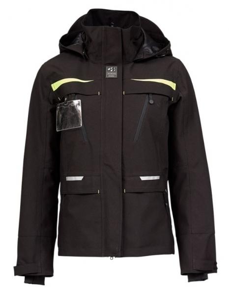 OCEAN-Abeko-Damen-Wetterschutz-Jacke, Rocky Stretch, schwarz