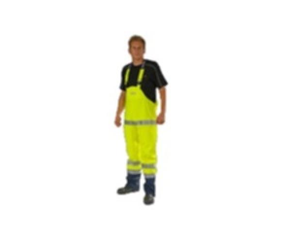OCEAN-Komfort Light Warnschutz-Latzhose, High Vis,170g/m², gelb/marine